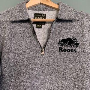 Roots half-zip fleece sweater